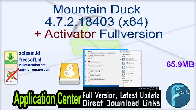 Mountain Duck 4.7.2.18403 (x64) + Activator Fullversion