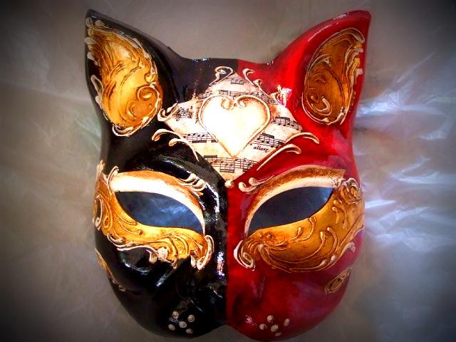 Origine della maschera veneziana del gatto - Pagina colorazione maschera gatto ...