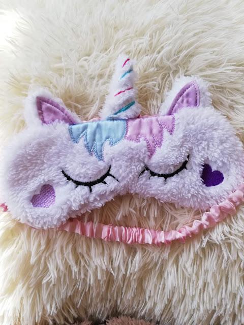 sleep mask, eye mask, maska za spavanje, unicorn, jednorog, cute, soft, mekano, fluffy, plush