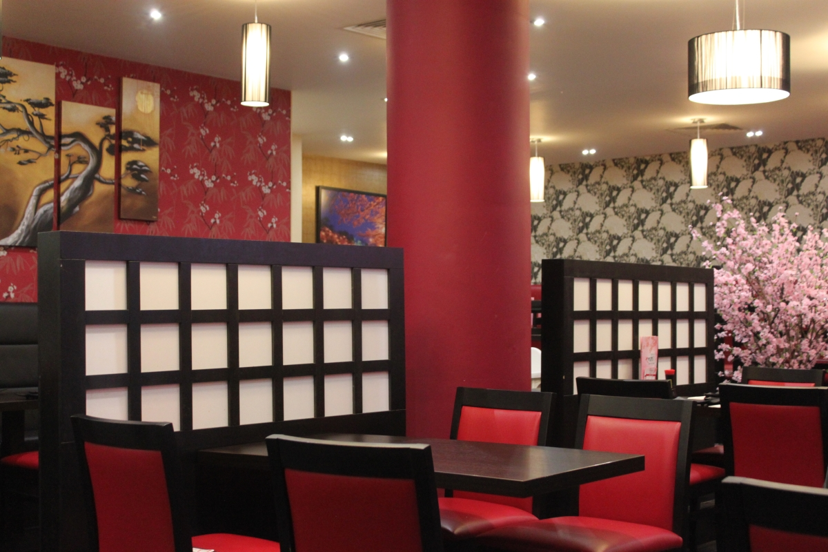 Kyoto Sushi and Grill Restaurant Birmingham Food Review Interior