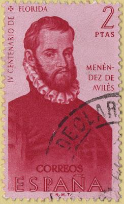 sello, 1960, Pedro Menéndez de Avilés