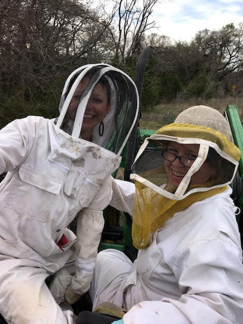 Beekeeping on the Bee Buggy with my Bee Buddy.