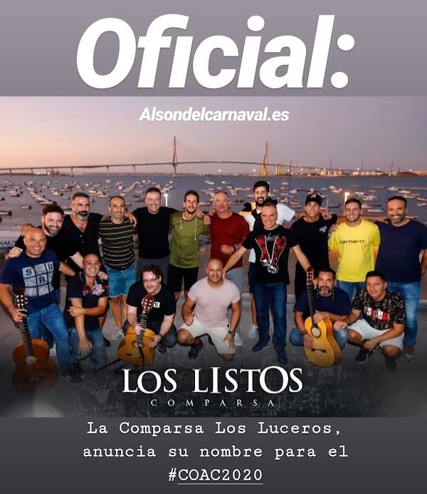 La comparsa Los Luceros en 2019, anuncia su nombre para el COAC2020