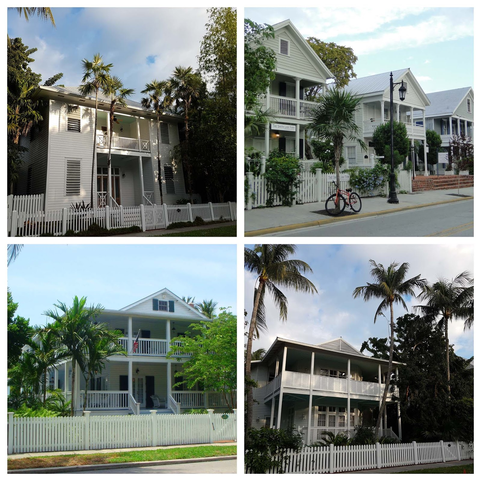 Casas do centro histórico de Key West
