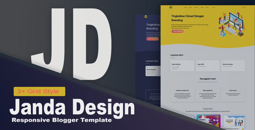 Janda Design - modelo responsivo do Blogger