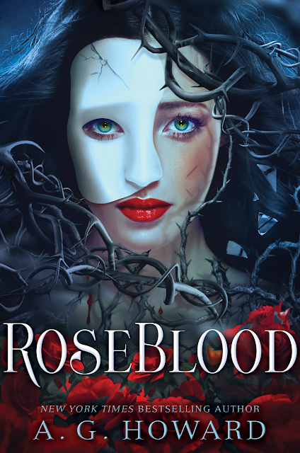 Beautiful 2017 Book Cover Designs  Roseblood by A.G. Howard Best book cover design