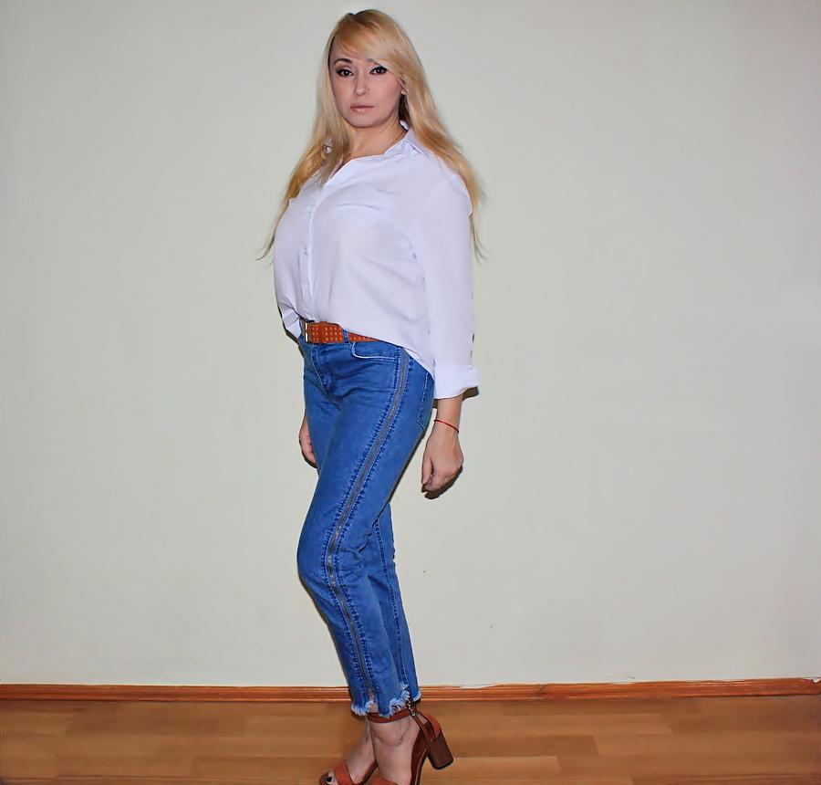ZAFUL Haul: Zippered Hem Jeans and Layered Faux Pearls Sweater. Джинсы с бахромой и свитер с искусственным жемчугом / обзор, отзывы, фото