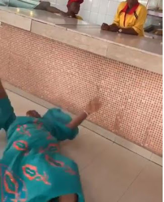 """""""Mother's Love"""": Nigerian Mum Rolls On The Floor As Son Comes Home After 5 Years In U.S"""