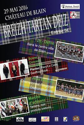 Breizh Tartan Deiz affiche initiale report en septembre