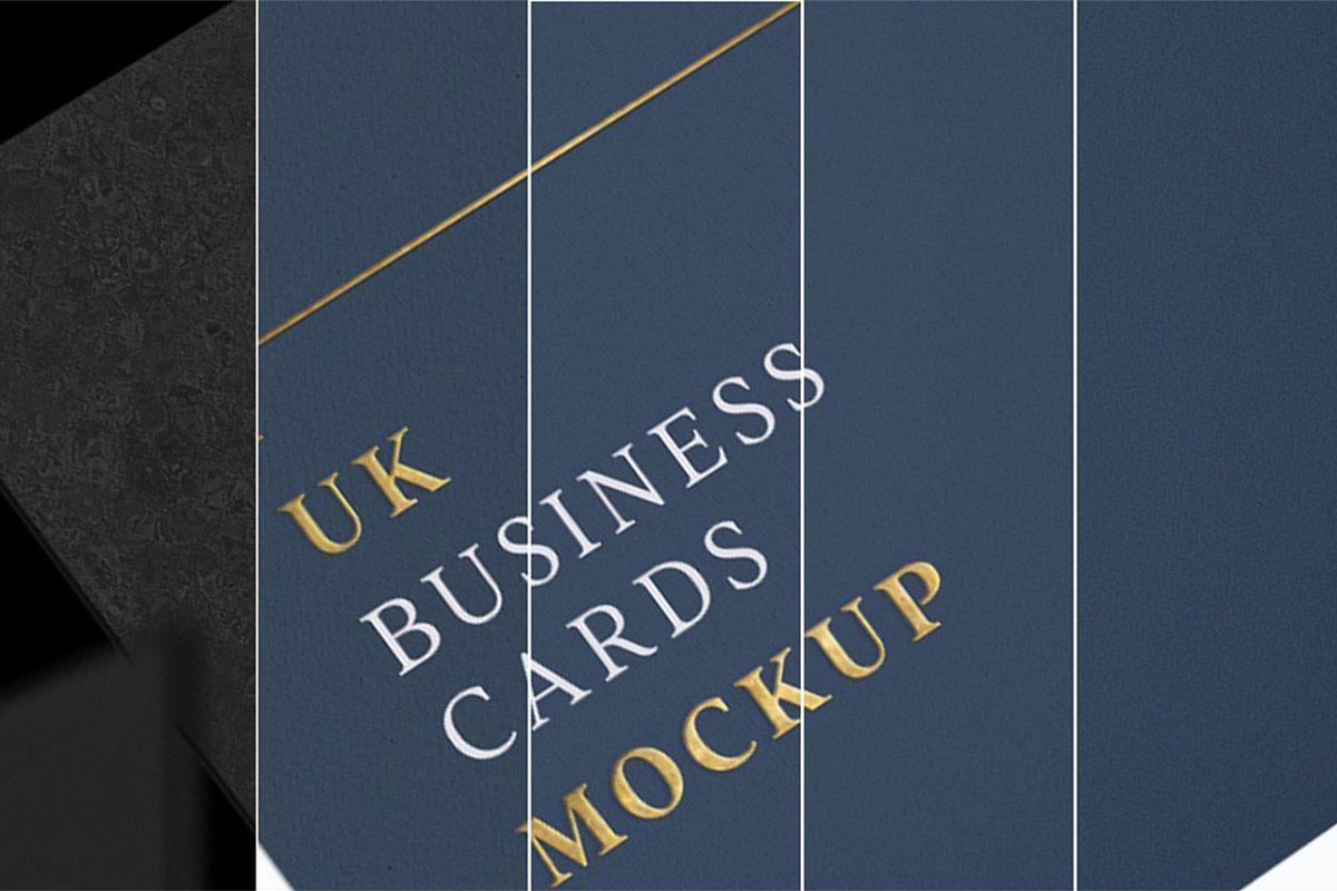 UK Business Cards Mockup 10v