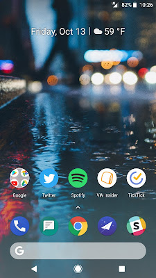 Pixel 2 Launcher Home Screen