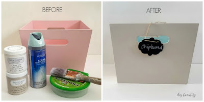 An old wood toy crate gets a fabulous new update! Find out more at diy beautify!