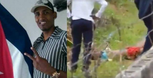 Un par de videos que circulan en redes sociales contienen las fuertes imágenes donde se aprecia a los agentes de la seguridad cuando disparan sobre Arguelles cuando este se encontraba en el suelo y luego en la acción de arrastrar su cuerpo