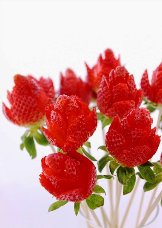 how to make strawberry decorations