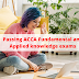 Passing ACCA Fundamental and Applied knowledge exams