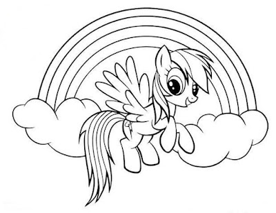 Rainbow Dash Coloring Pages for Kids - colours drawing ...