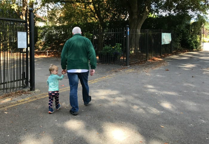 Squidge with Grandad Roddy