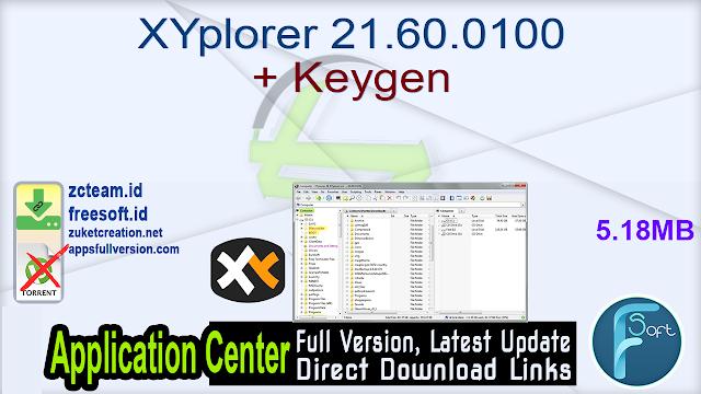 XYplorer 21.60.0100 + Keygen