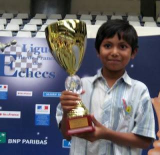 Fahim Mohammad vainqueur du tournoi B du championnat de Paris en 2010 - Photo © Chess & Strategy