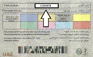 UAE Driving License Traffic File Number