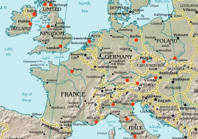 21 Day Europe Trip Route Idea | Road trip europe, Europe ... |Map Europe Vacation