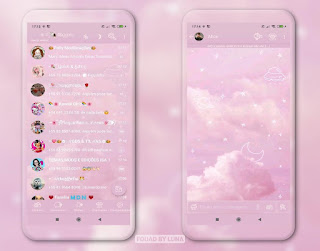 Sky Pink Theme For YOWhatsApp & Fouad WhatsApp By Luna