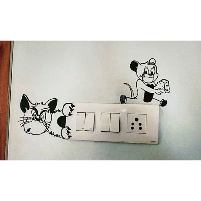 Switchboard Painting Mickey Mouse