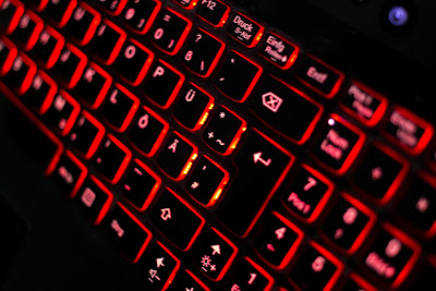 Light-up computer keyboard