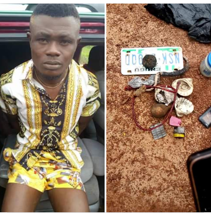 Breaking News: Enugu state Neighborhood watch arrest a notorious assassin in Nsukka