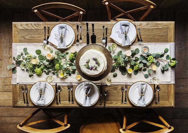 como montar e decorar a mesa