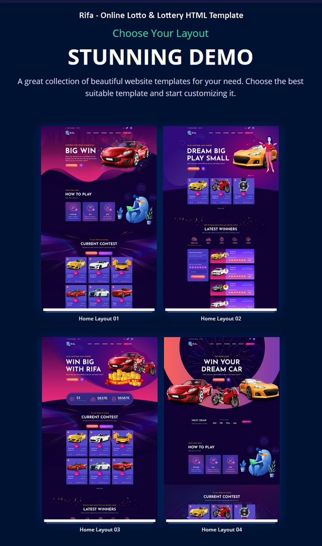 Online Lotto & Lottery Website Template