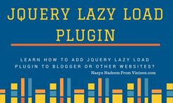 How To Add JQuery Lazy Load Plugin to Blogger