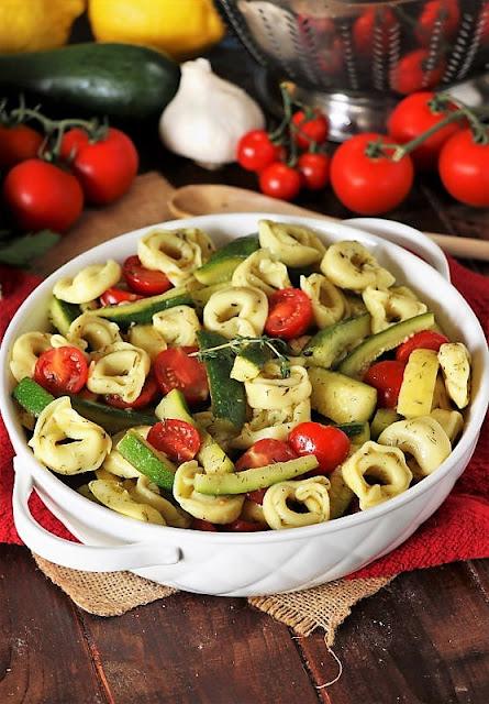 Summer Veggie Tortellini Salad Image