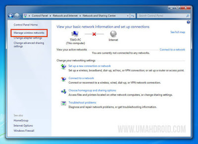 Manage Wireless Networks Windows Muncul