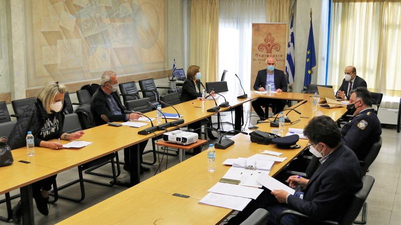 Σύσκεψη στην Περιφέρεια ΑΜ-Θ για την εντατικοποίηση των ελέγχων τήρησης των μέτρων κατά της πανδημίας