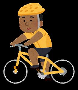 サイクリングをする人のイラスト(黒人男性)