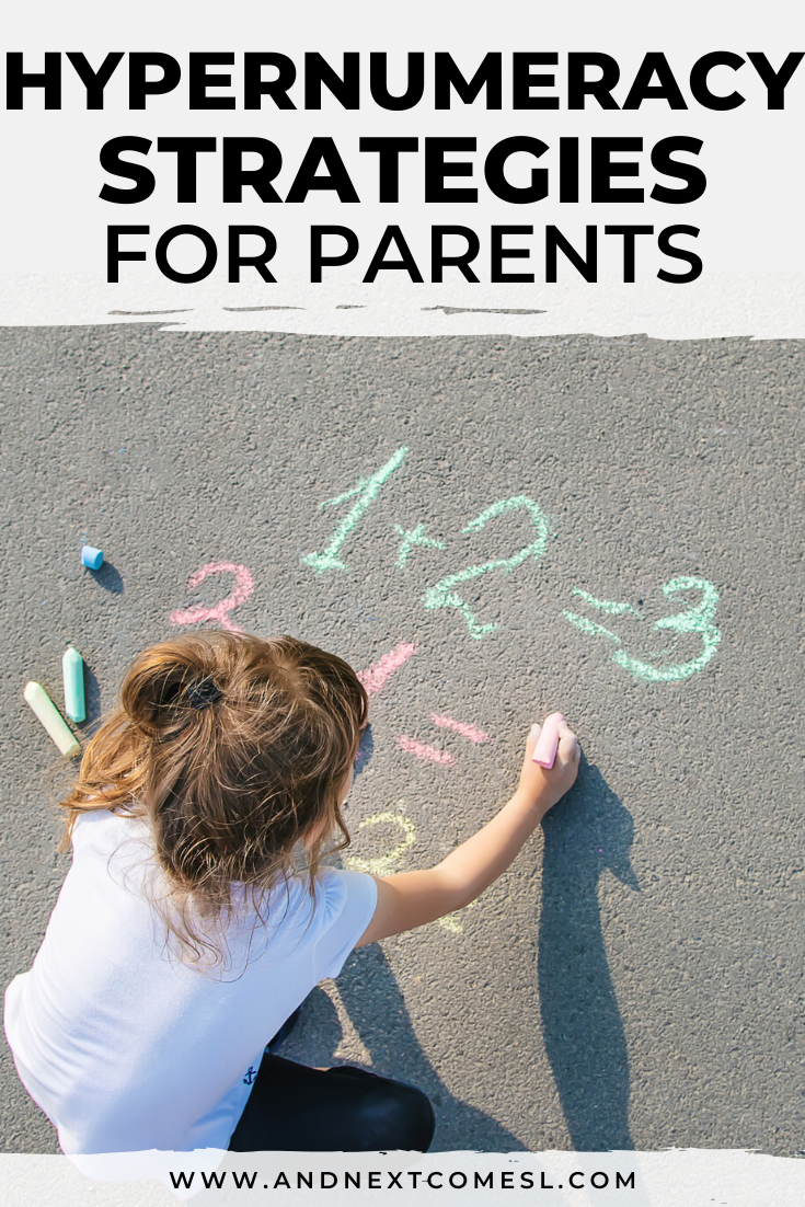 Hypernumeracy tips for parents - ideas on how to use your child's interest in numbers to help them learn new skills
