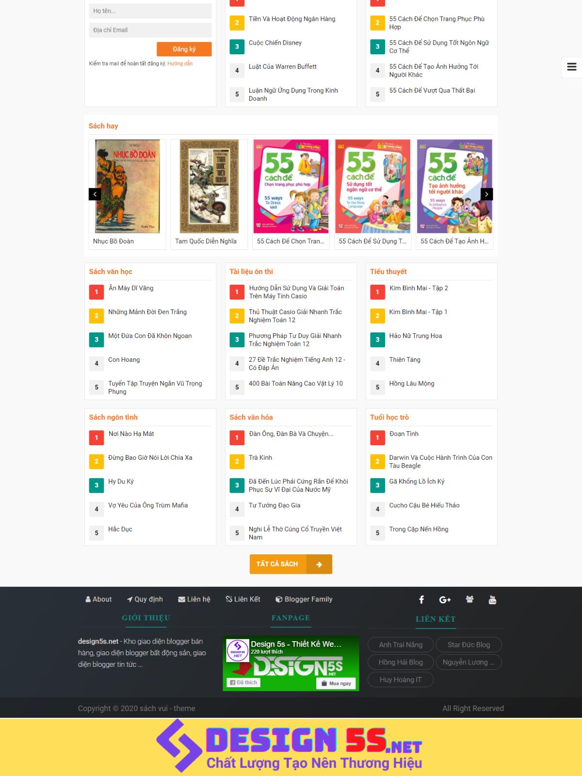 Theme Blospot Bán Sách Và Đọc Sách Online VSM87 - Ảnh 2
