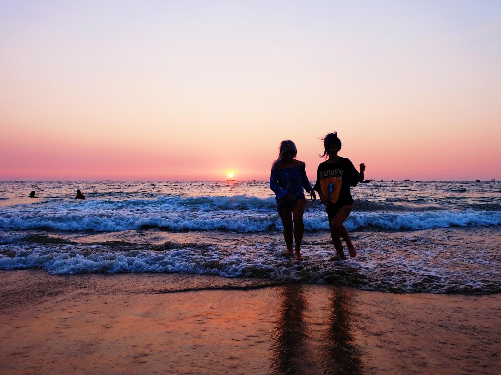 SUNSET ON BAGA BEACH