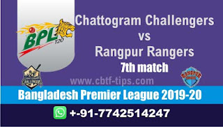 Who will win Today BPL T20, 7th Match Rangpur vs Chattogram - Cricfrog