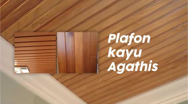 ciri plafon kayu agathis