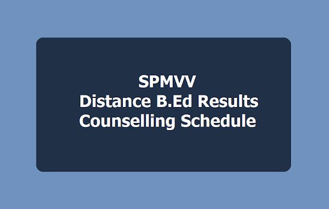 SPMVV Distance B.Ed