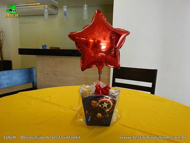 Enfeites de centro de mesas Os Vingadores - festa de aniversário infantil