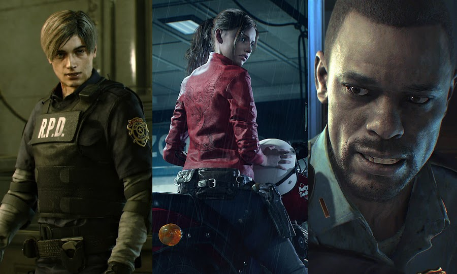 resident evil 2 remake leon kennedy claire redfield marvin branagh