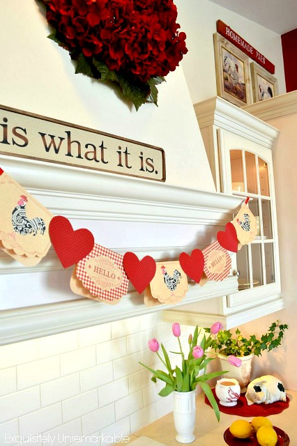 how to make a valentine note card banner