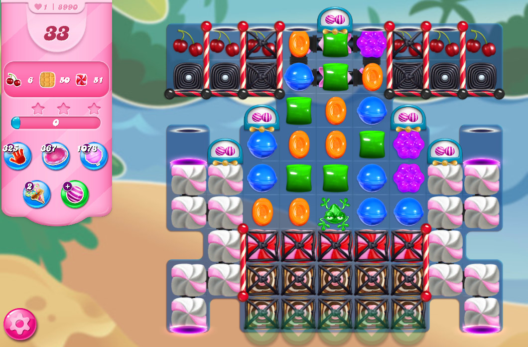 Candy Crush Saga level 8990