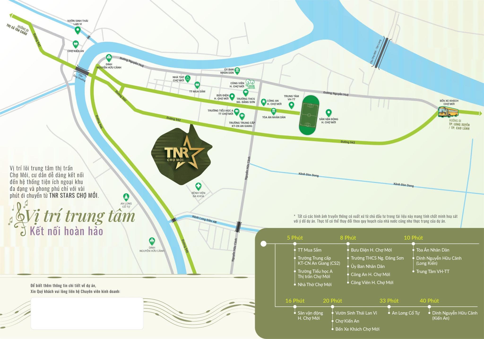 Bản đồ vị trí dự án khu đô thị TNR Stars Chợ Mới