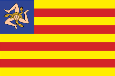 Bandera de Sicilia independiente