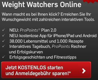 meine testecke weight watchers der neue propoints plan. Black Bedroom Furniture Sets. Home Design Ideas
