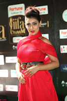 Apoorva in a Stunning Tight Leg Split Sleeveless Red Gown at IIFA Utsavam Awards 35.JPG